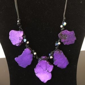 Purple Statement Necklace. Add this to your bundle